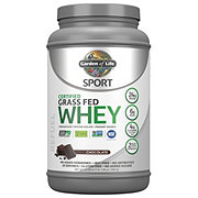 Garden of Life Sport Certified Grass Fed Chocolate Whey Protein Powder