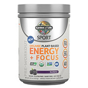Garden of Life Sport Organic Plant-Based Energy + Focus Blackberry Pre-Workout