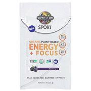 Garden of Life Sport Organic Plant-Based Energy + Focus Blackberry Pre-Workout