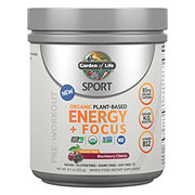 Garden of Life Sport Organic Plant-Based Energy + Focus Sugar Free Blackberry Cherry Pre-Workout