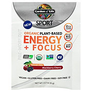 Garden of Life Sugar Free Sport Energy & Focus Blackberry Cherry