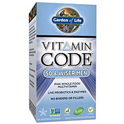 Garden of Life Vitamin Code 50 & Wiser Men Vegetarian Capsules