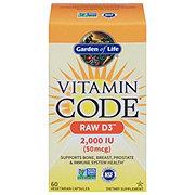 Garden of Life Vitamin Code Raw D3 2000 IU Vegetarian Capsules