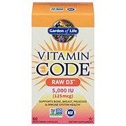 Garden of Life Vitamin Code Raw D3 5000 IU Vegetarian Capsules