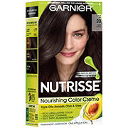 Garnier Nutrisse Nourishing Hair Color Creme 20 Soft Black Black Tea