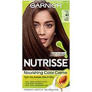 Garnier Nutrisse Nourishing Hair Color Creme 43 Dark Golden Brown Cocoa Bean