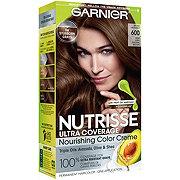Garnier Nutrisse Ultra Coverage Hair Color 600 Deep Light Natural Brown Spiced Hazelnut