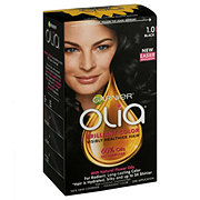Garnier Olia Oil Powered Permanent Hair Color 1.0 Black Hair Dye
