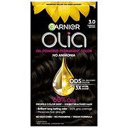 Garnier Olia Oil Powered Permanent Hair Color 3.0 Darkest Brown Hair Dye