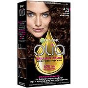 Garnier Olia Oil Powered Permanent Hair Color 4.35 Dark Gold Mahogany Hair Dye