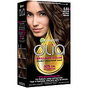 Garnier Olia Oil Powered Permanent Hair Color 5.03 Medium Neutral Brown Hair Dye