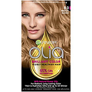 Garnier Olia Oil Powered Permanent Hair Color 8.0 Medium Blonde Hair Dye