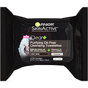 Garnier SkinActive Clean + Purifying Oil-Free Cleansing Towelettes, Oily Skin