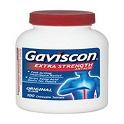 Gaviscon Extra Strength Antacid Original Flavor Chewable Tablets