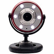 Gear Head Red Quick 5MP 720p HD Webcam