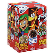 General Mills Lucky Charms, Trix and Coca Puffs Triple Pack Cereal