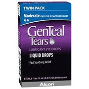 GenTeal Tears Moderate Lubricant Eye Drops Twin Pack