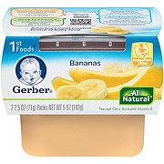 Gerber 1st Foods Nature Select Bananas 2 pk