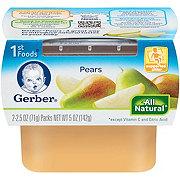 Gerber 1st Foods Nature Select Pears 2 pk