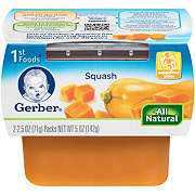 Gerber 1st Foods Nature Select Squash 2 pk