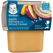 Gerber 2nd Foods Apple Banana with Mixed Cereal 2 pk