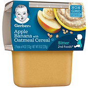 Gerber 2nd Foods Apple Banana with Oatmeal Cereal  2 pk