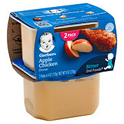 Gerber 2nd Foods Apple Chicken Dinner 2 pk