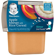 Gerber 2nd Foods Apple Mango with Rice Cereal 2 pk