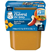 Gerber 2nd Foods Apple Peach Squash 2 pk