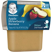 Gerber 2nd Foods Apple Strawberry Banana  2 pk
