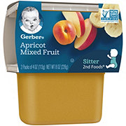 Gerber 2nd Foods Apricot with Mixed Fruit 2 pk