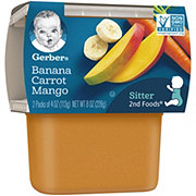 Gerber 2nd Foods Banana Carrot Mango 2 pk