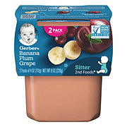 Gerber 2nd Foods Banana Plum Grape 2 pk