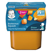 Gerber 2nd Foods Butternut Squash  2 pk