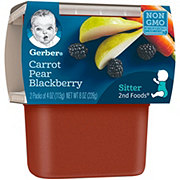 Gerber 2nd Foods Carrot Pear Blackberry 2 pk