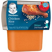 Gerber 2nd Foods Chicken Rice Dinner 2 pk