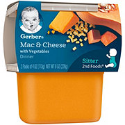 Gerber 2nd Foods Mac & Cheese with Vegetables Dinner 2 pk