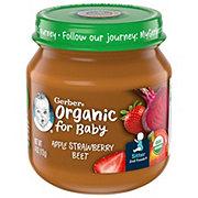Gerber 2nd Foods Organic Apple Strawberry Beet