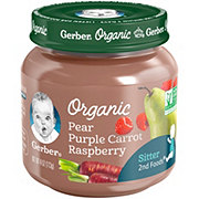 Gerber 2nd Foods Organic Pear Purple Carrot Raspberry