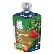 Gerber 2nd Foods Organic Pouches Apple Zucchini Spinach Strawberry