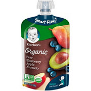 Gerber 2nd Foods Organic Pouches Pear Blueberry Apple Avocado