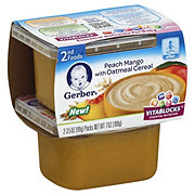 Gerber 2nd Foods Peach Mango with Oatmeal Cereal 2 pk