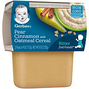 Gerber 2nd Foods Pear Cinnamon with Oatmeal Cereal 2 pk