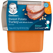 Gerber 2nd Foods Sweet Potato Turkey Dinner with Whole Grains  2 pk