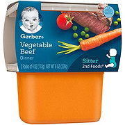 Gerber 2nd Foods Vegetable Beef Dinner 2 pk