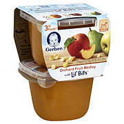 Gerber 3rd Foods Orchard Fruit Medley with Lil Bits 2 pk