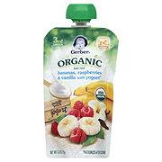 Gerber 3rd Foods Organic Bananas, Raspberries & Vanilla with Yogurt