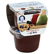 Gerber 3rd Foods Pear Apple Berry with Lil Bits 2 pk