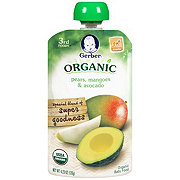 Gerber 3rd Foods Pouch, Organic Pears Mangoes & Avocado
