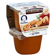 Gerber 3rd Foods, Sweet Potato Apple Carrots & Cinnamon with Lil Bit